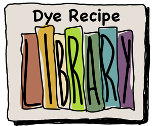 Dye Recipe Library for dyeing rug hooking wool