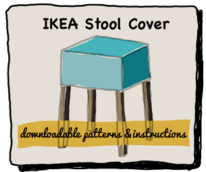 IKEA Stool Cover Downloadable Patterns and Instructions, make your own hooked cover