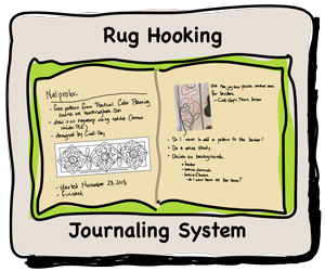 Rug Hooking Journaling System to document your rug hooking projects