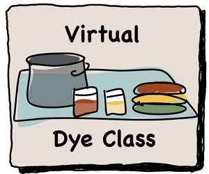 Virtual Dye Class for dyeing rug hooking wool