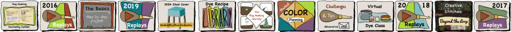 Rug Hooking Courses offered on howtorughook.com
