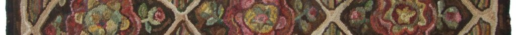 Divider - hooked rug